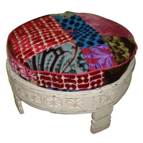 Wooden Fabric Seating Stool