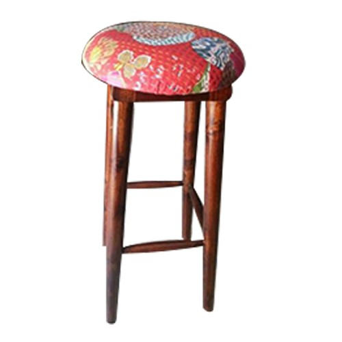 Wooden Fabric Seating Bar Stool
