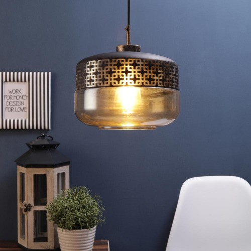 Gold Black Metal Single Hanging Light
