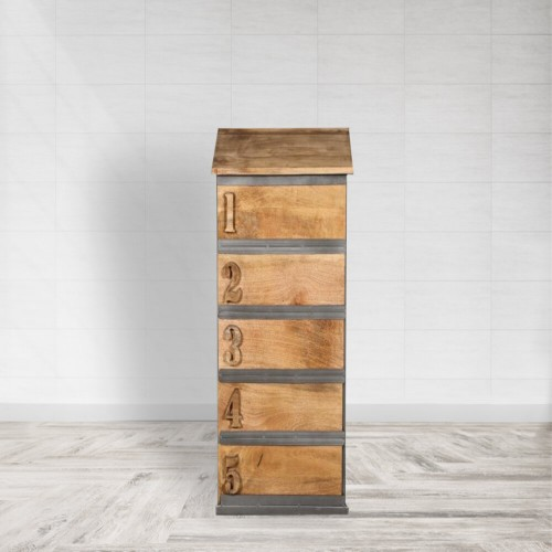 Wooden Metal Drawer Chest